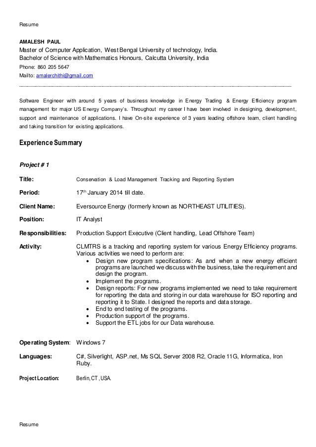 amalesh resume