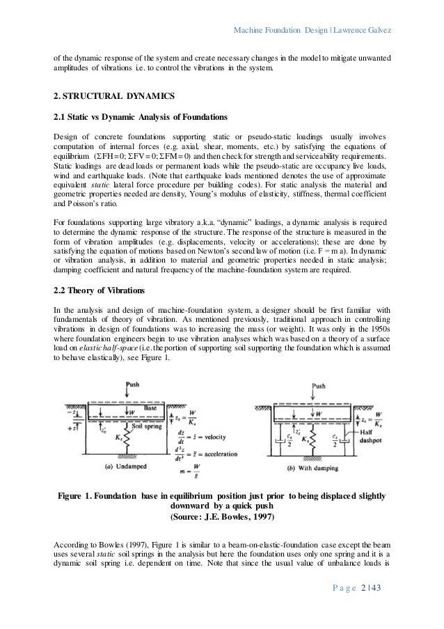 Machine Foundation Design - An Introduction