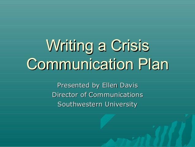 Crisis management communication plan essay writer