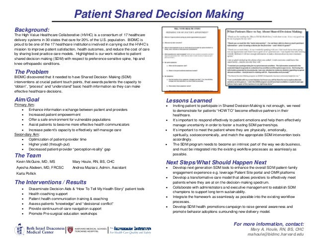 Patient Shared Decision Making