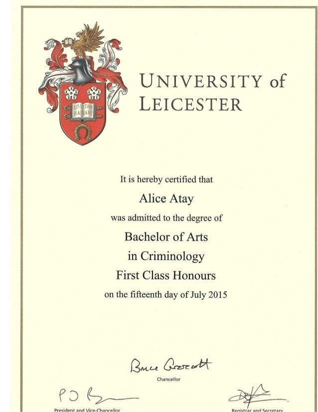 Criminology Degree Certificate