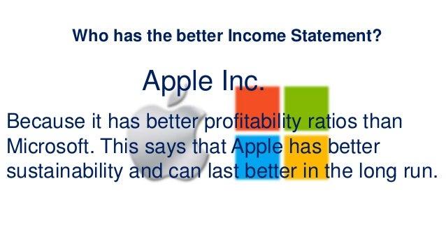 Apple vs Microsoft – Microsoft Income Statement