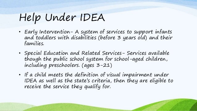 The industry profile on visual impairment