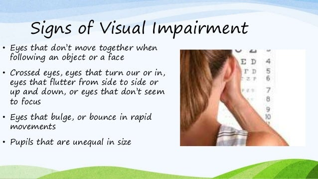 Visual Impairment Information And Teaching Strategies