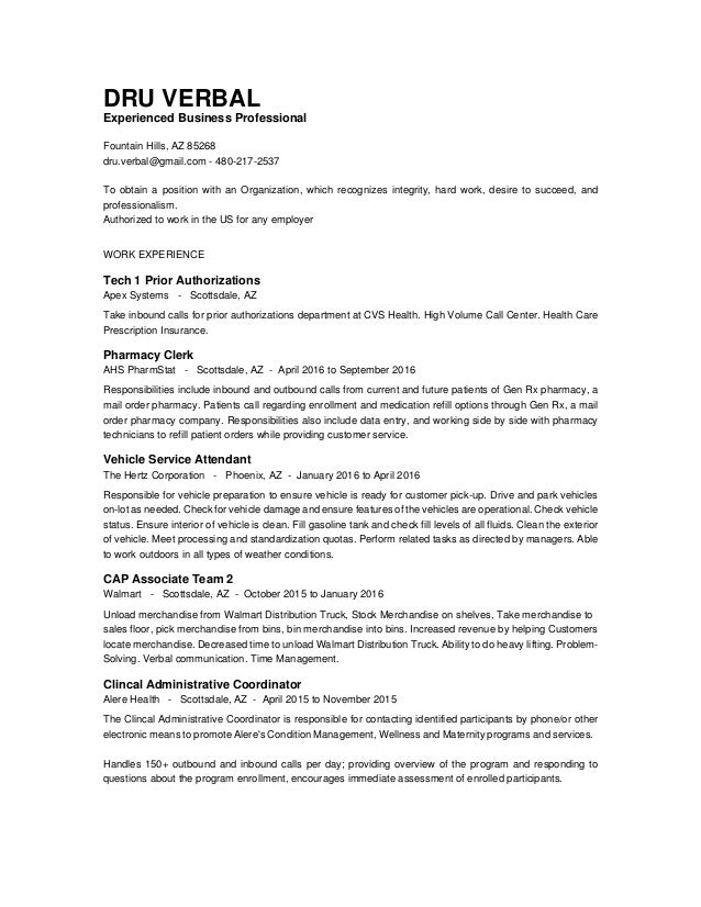 Dru Verbal Resume 2016
