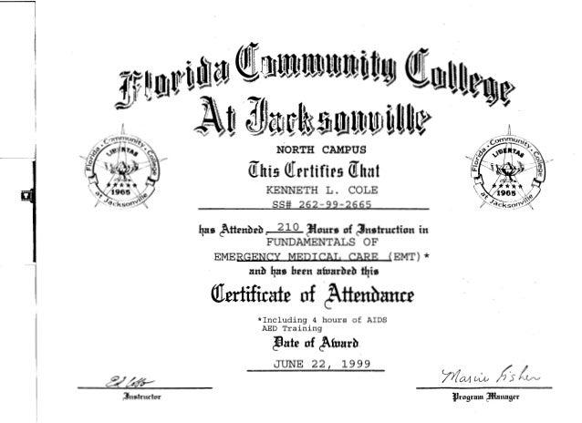 Cole EMT Certification