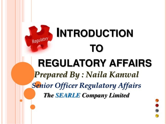 regulatory affairs