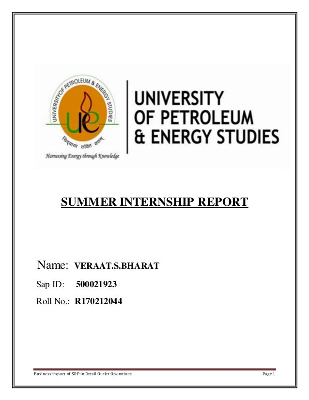 HPCL Summer internship report