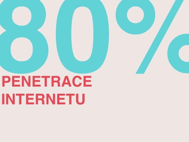 80% PENETRACE  INTERNETU