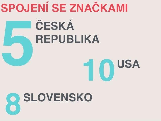 SPOJENÍ SE ZNAČKAMI  5ČESKÁ  REPUBLIKA  10USA  8SLOVENSKO