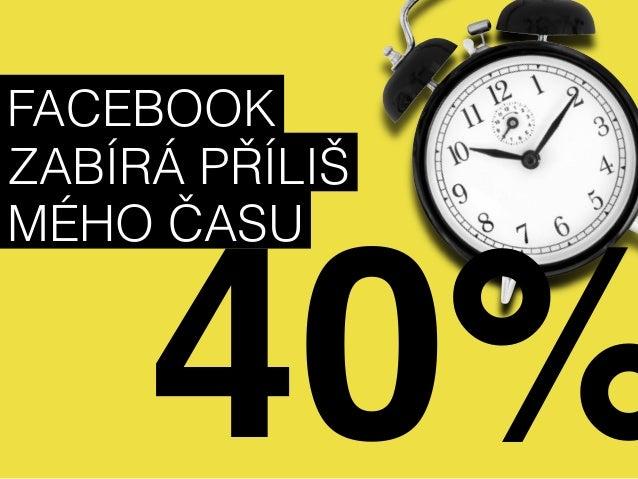 FACEBOOK  ZABÍRÁ PŘÍLIŠ  MÉHO ČASU  40%