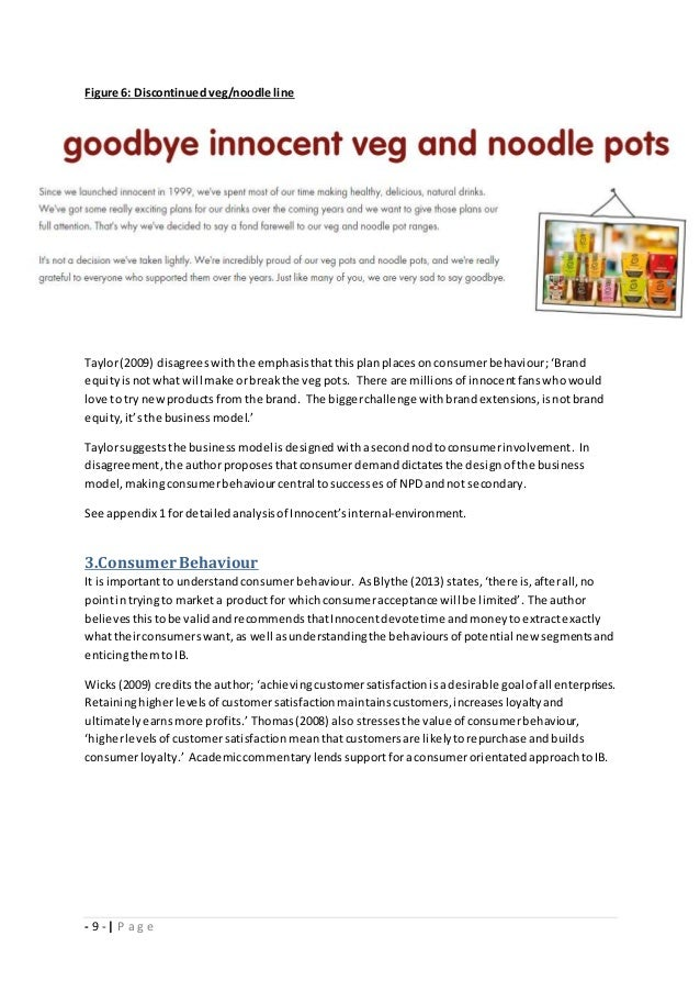 innocent marketing plan 1 case study – the fruit juice revolution 11 report brief you work as a marketing consultant and have a specialist interest in the fruit juice.