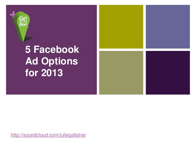 +      5 Facebook      Ad Options       !      for 2013http://soundcloud.com/juliegallaher