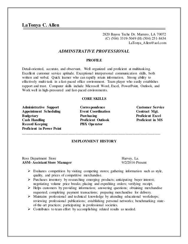 proficient in c resume