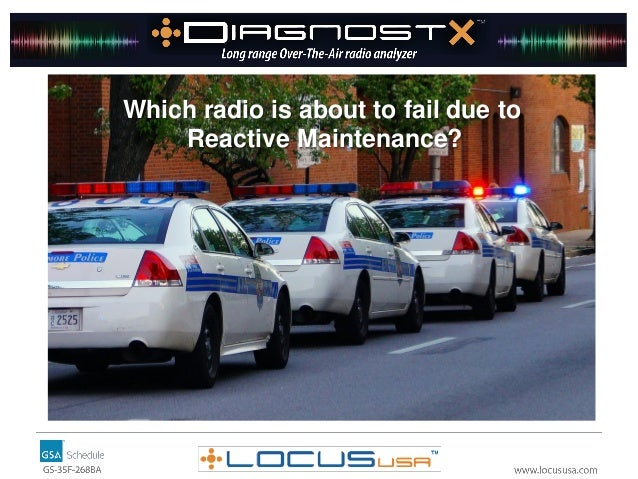 Which radio is about to fail due to Reactive Maintenance?