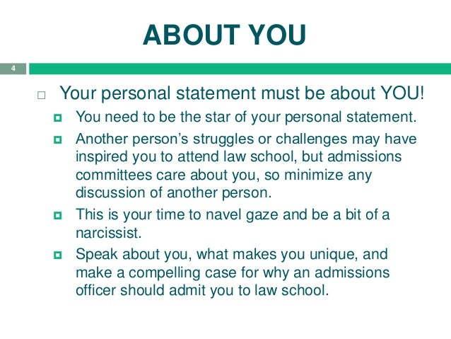 3; 4. ABOUT YOU  Your Personal Statement ...