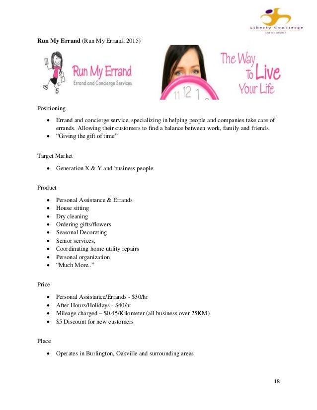 Errand business plan