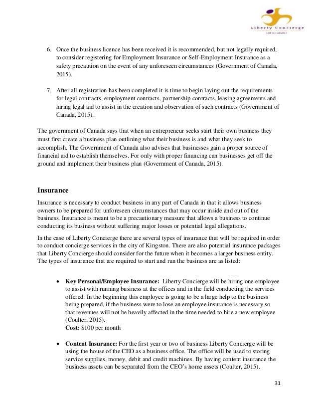 business plan sample coursehero
