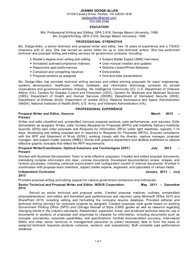SENIOR TECHNICAL AND PROPOSAL WRITER AND EDITOR_12_2016