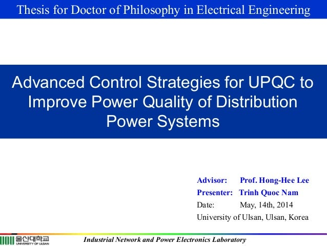 Phd thesis on power quality