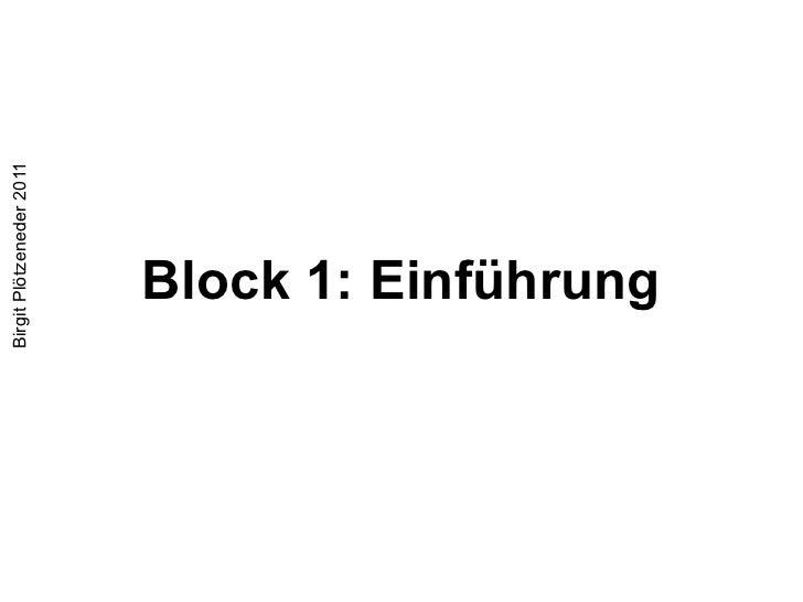Block 1: Einführung