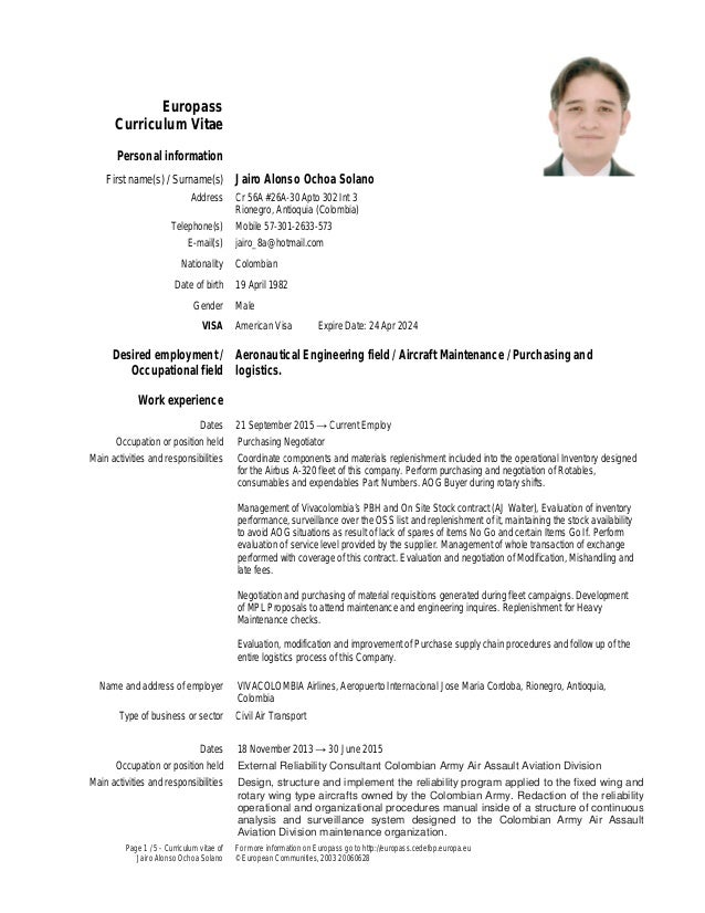 page 1 5 curriculum vitae of jairo alonso ochoa solano for more information on