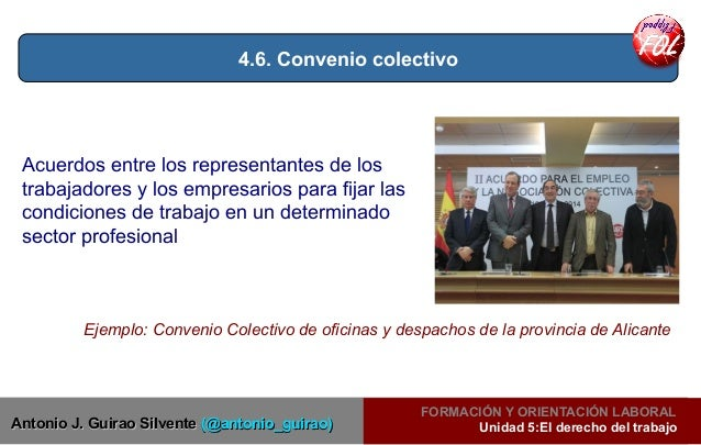 Unidad 5 flipped fol el derecho laboral for Convenio colectivo oficinas y despachos pontevedra