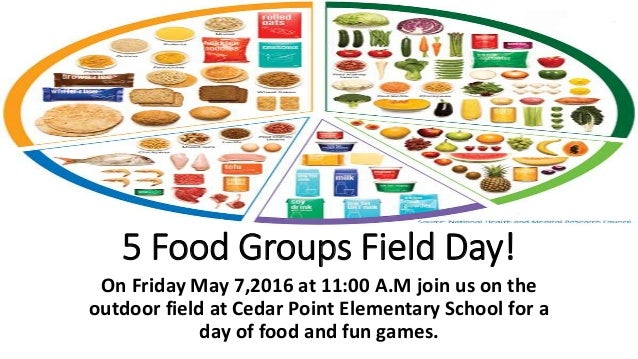 5 food groups field day!