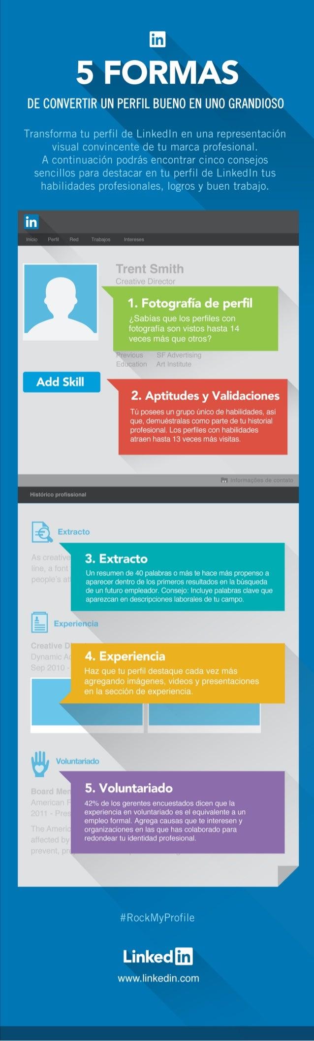 Infografía | 5 Formas de convertir un perfil bueno en uno increíble