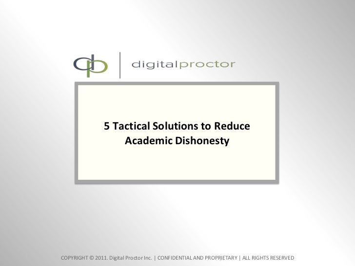 5 Tactical Solutions to Reduce Academic Dishonesty<br />0<br />