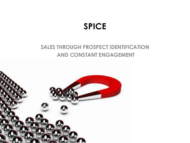 SPICE SALES THROUGH PROSPECT IDENTIFICATION AND CONSTANT ENGAGEMENT