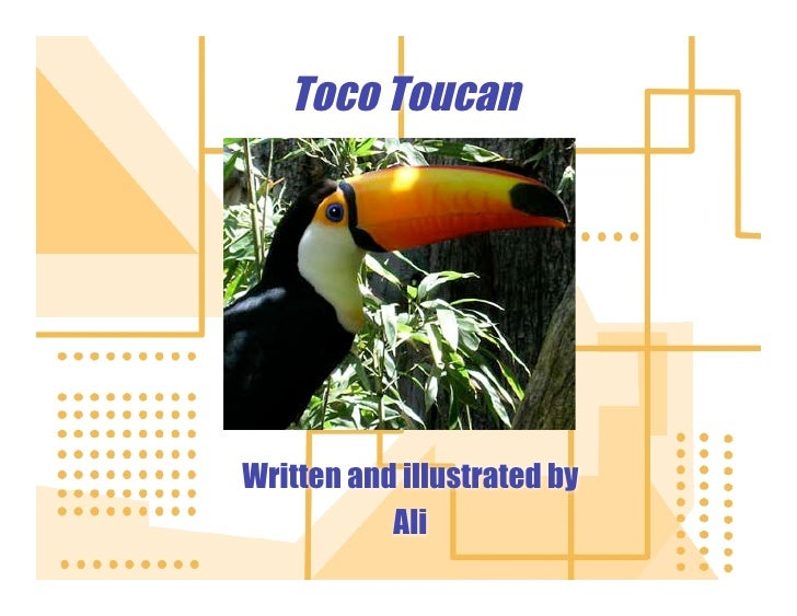 Toco Toucan     Written and illustrated by            Ali