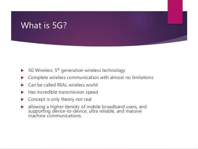 5 G Wireless Technology Slide 3