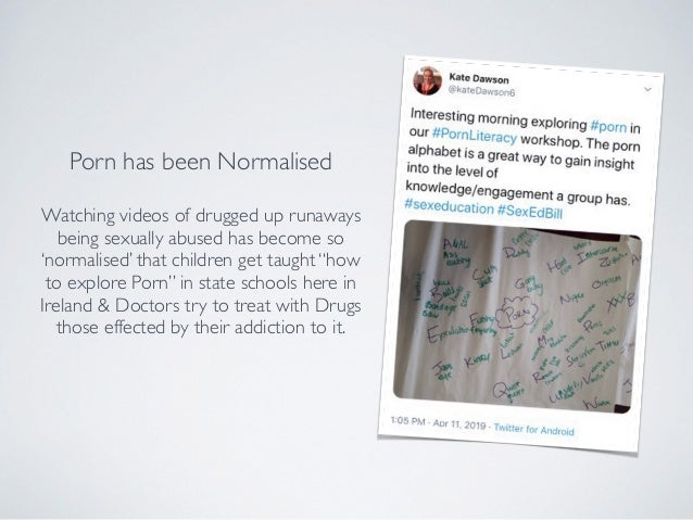 Porn has been Normalised Watching videos of drugged up runaways being sexually abused has become so 'normalised' that chil...