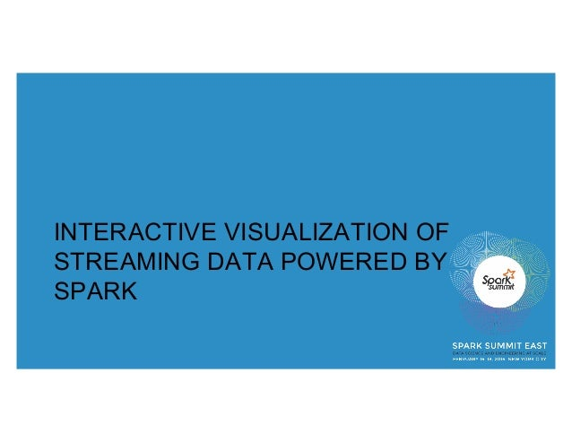 INTERACTIVE VISUALIZATION OF STREAMING DATA POWERED BY SPARK