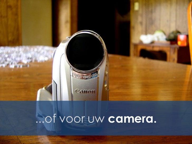 ...of voor uw camera.