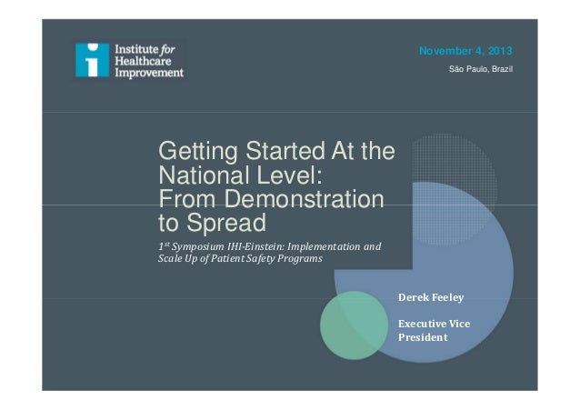Getting Started At the National Level: From Demonstration to Spread 1st Symposium IHI-Einstein: Implementation and Scale U...