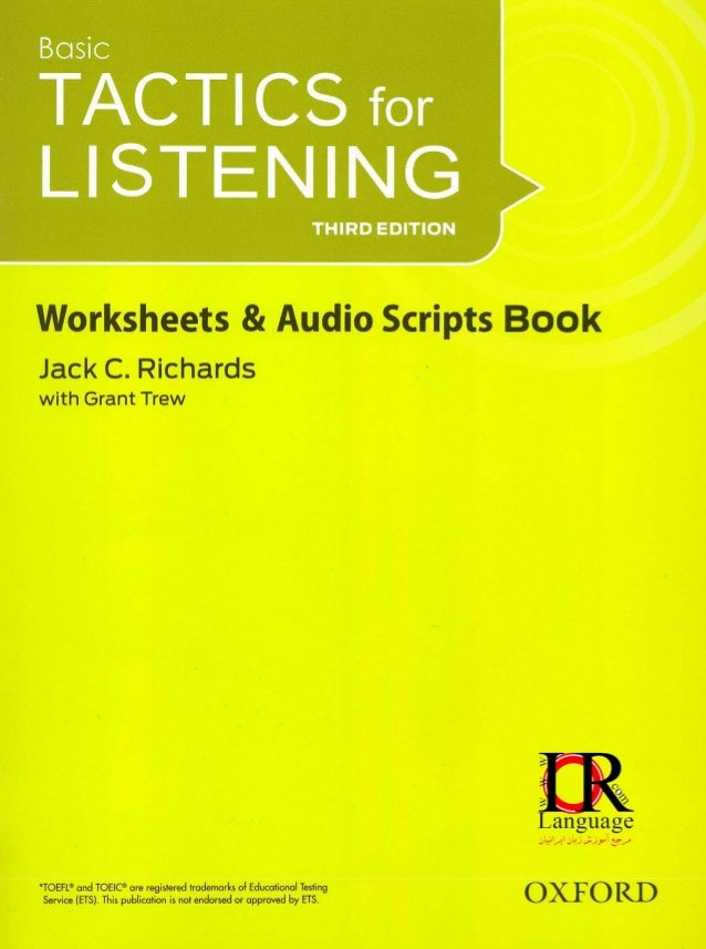 Tactics for listening 3rd basic book (Worksheets vs audio ...