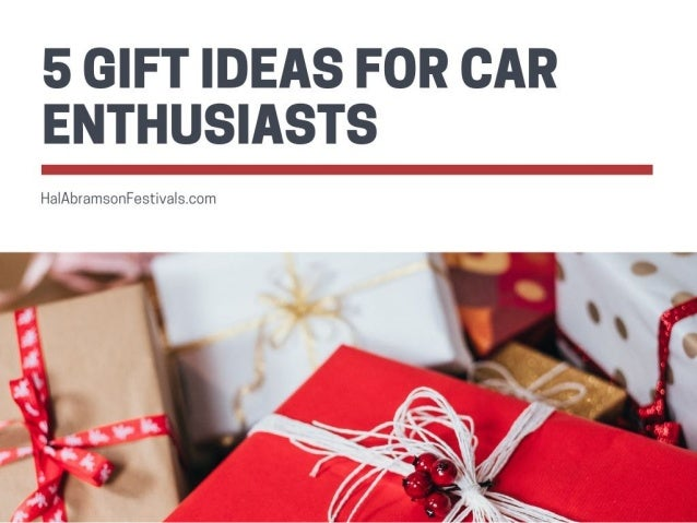 5 Gift Ideas for Car Enthusiasts