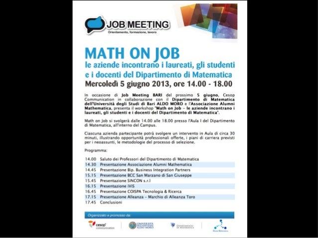 Associazione di Promozione Sociale per la ricerca scientifica indipendente www.alumnimathematica.org STEFANO FRANCO Presid...