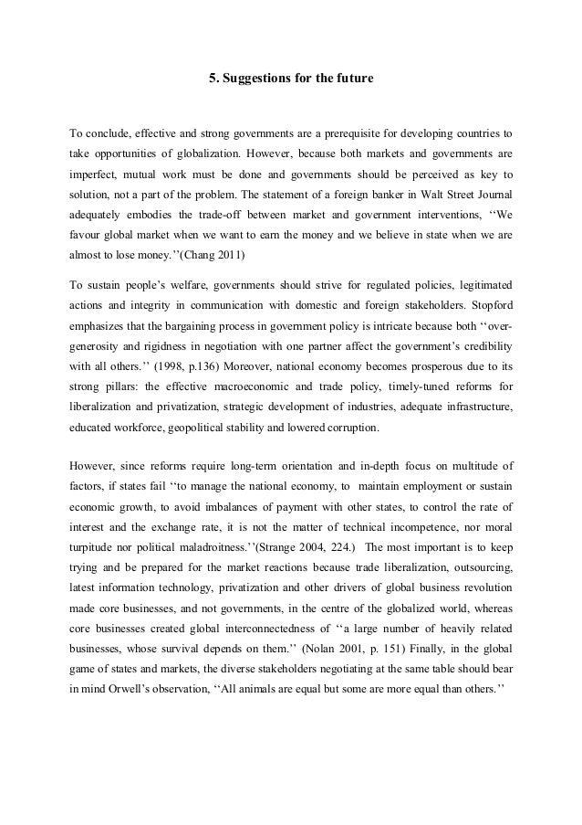 Globalization essay