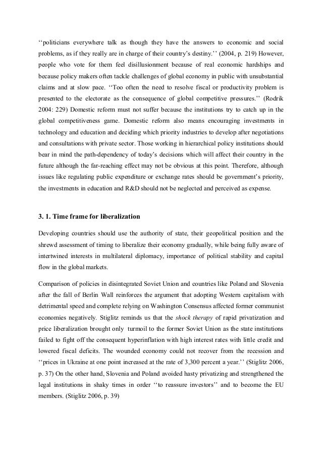 globalization essay the role of state the university of cambridge  she states that 6