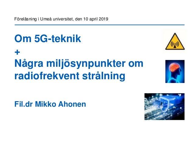 Om 5G-teknik i Umeå - Massive MIMO, Beamforming, Millimetervågor