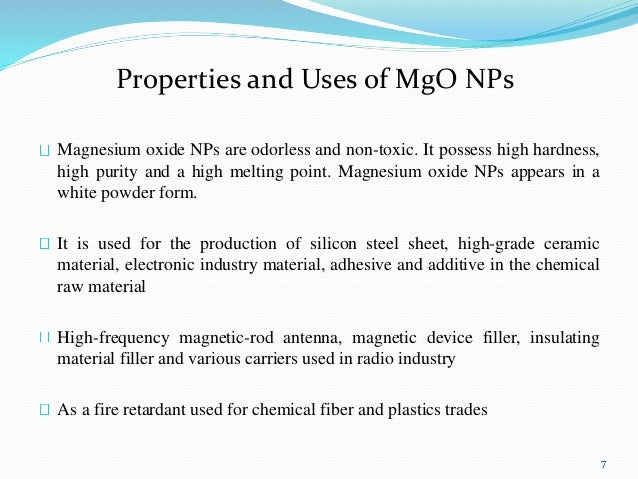 6 7 Properties And Uses Of Mgo