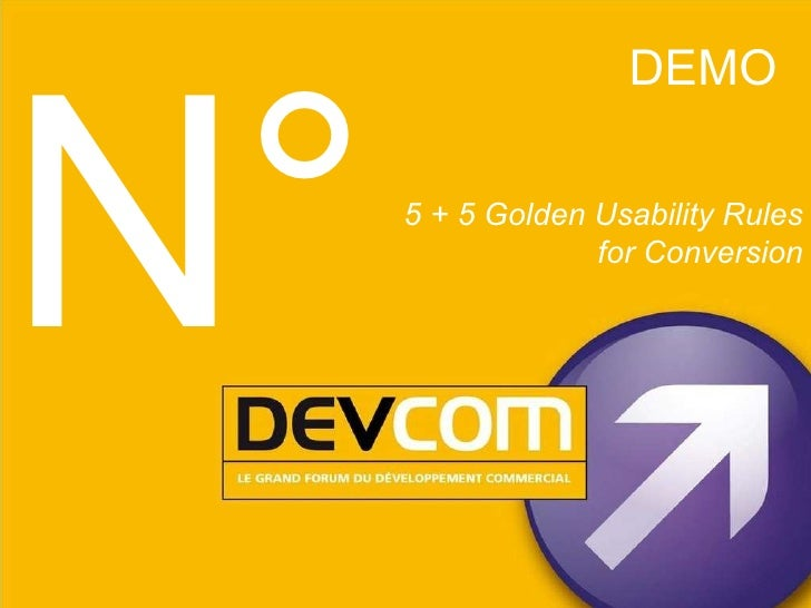 DEMO 5 + 5 Golden Usability Rules for Conversion N°