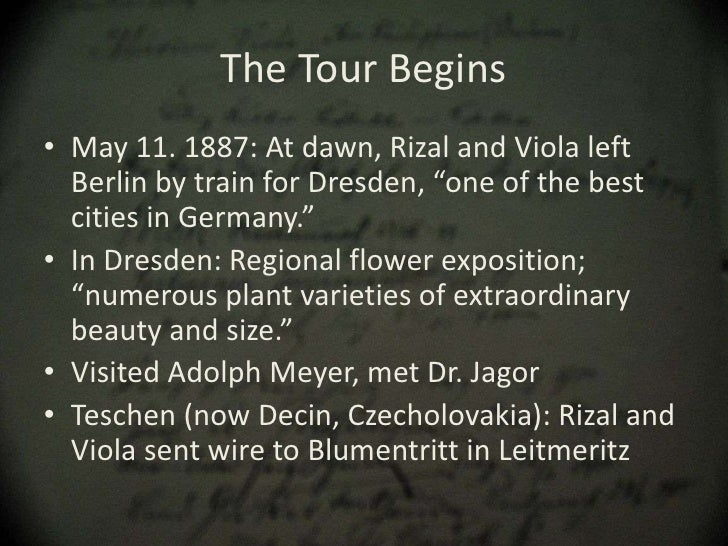 the grand tour of europe essay Free essay: rizal's grand tour of europe with viola (1887) may 11, 1887- rizal  and viloa left berlin by train their destination was dresden.