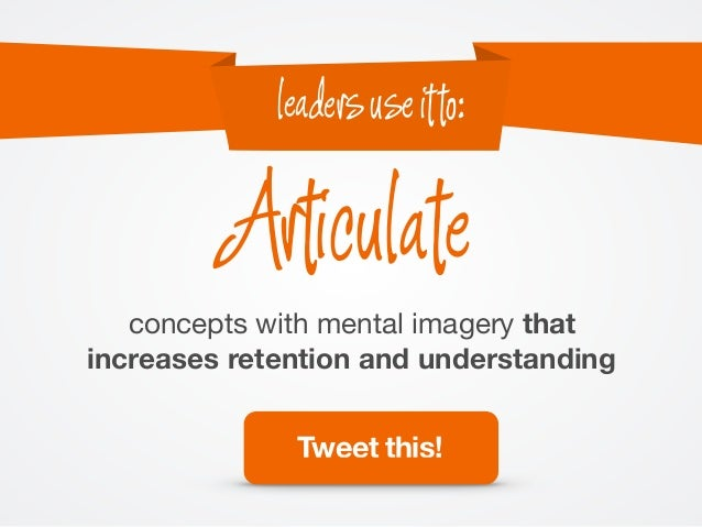concepts with mental imagery that increases retention and understanding Articulate leadersuseitto: Tweet this!