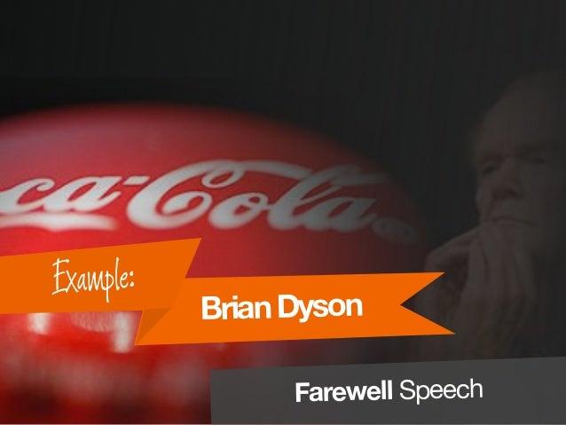 BrianDyson Example: Farewell Speech