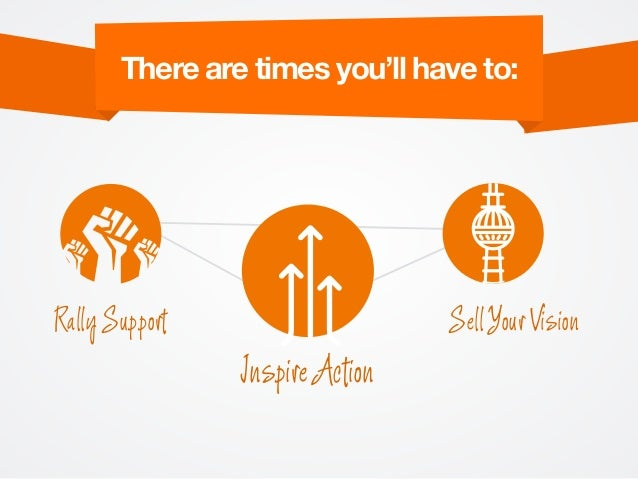 There are times you'll have to: Rally Support Inspire Action Sell Your Vision