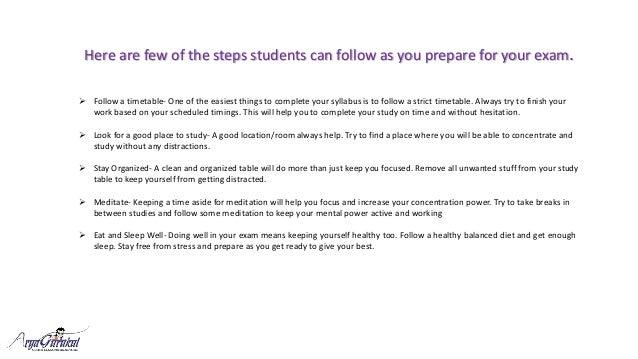 5 great tips for exam preparation Slide 2
